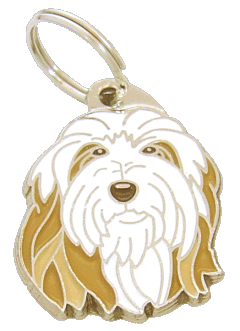 BEARDED COLLIE FAWN - pet ID tag, dog ID tags, pet tags, personalized pet tags MjavHov - engraved pet tags online